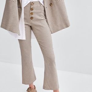 Zara plaid fit and flare pants